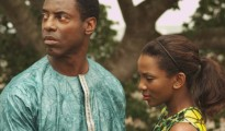 "Isiah Washington and Genevieve Nnaji in ""Dr. Bello"" at the African Diaspora International Film Festival"