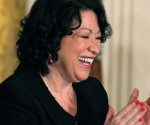 (Photo/caption: WBUR.org) Supreme Court Associate Justice Sonia Sotomayor applauds during a reception in her honor at the White House.
