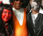 NY Assemblyman Dov Hikind (Center) celebrates Jewish holiday, Purim, by dressing in blackface.
