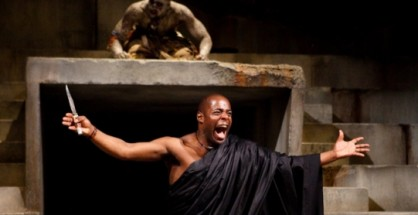 Paterson Joseph and Theo Ogundipe in Julius Caesar.  Photo by Kwame Lestrade