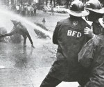Birmingham Fire Department during Civil Rights Movement.  The Voting Rights Act of 1965 was signed into law by President Lyndon Baines Johnson. Today, The Supreme Court of the United States struck down key elements of the Voting Rights Act.  Brooklyn, Bronx and Manhattan have been under DOJ pre-clearance status since the 1960s.